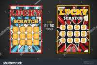 Scratch Off Lottery Card Retro Ticket Stock Vector (Royalty inside Scratch Off Card Templates
