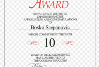 Service Awards Certificates – Zohre.horizonconsulting.co within Recognition Of Service Certificate Template