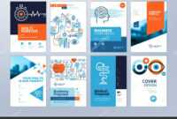 Set Medical Brochure Annual Report Flyer Design Templates in Pharmacy Brochure Template Free