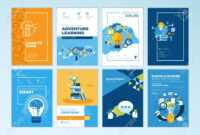 Set Of Brochure Design Templates On The Subject Of Education,.. in Brochure Design Templates For Education