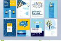 Set Of Brochure Design Templates On The Subject Of Education pertaining to Online Free Brochure Design Templates