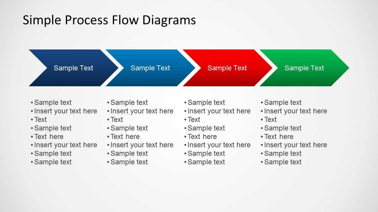 Simple Chevron Process Flow Diagram For Powerpoint Within Powerpoint Chevron Template