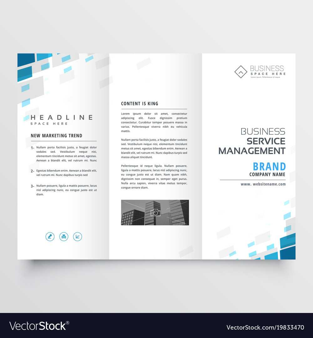 Simple Trifold Business Brochure Template Design Inside Free Tri Fold Business Brochure Templates