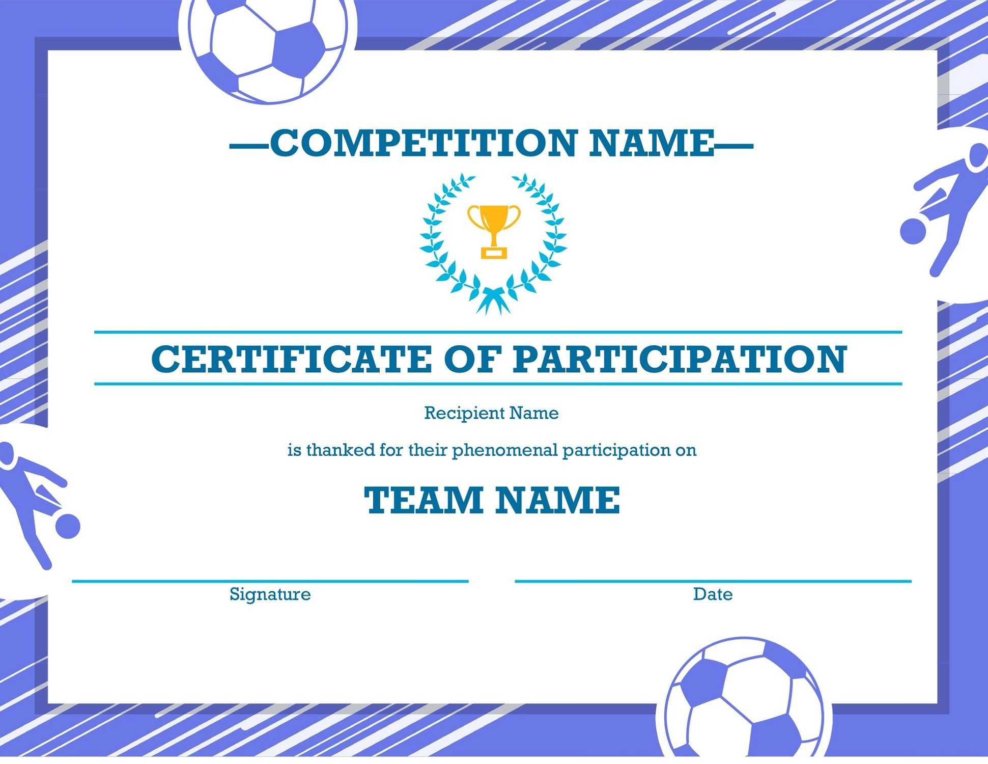 Soccer Award Certificates – Kids Learning Activity In Soccer Certificate Template