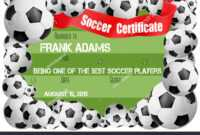 Soccer Certificate Template Football Ball Icons Stock Vector within Soccer Award Certificate Templates Free