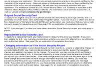 Social Security Application Form – 5 Free Templates In Pdf for Social Security Card Template Download