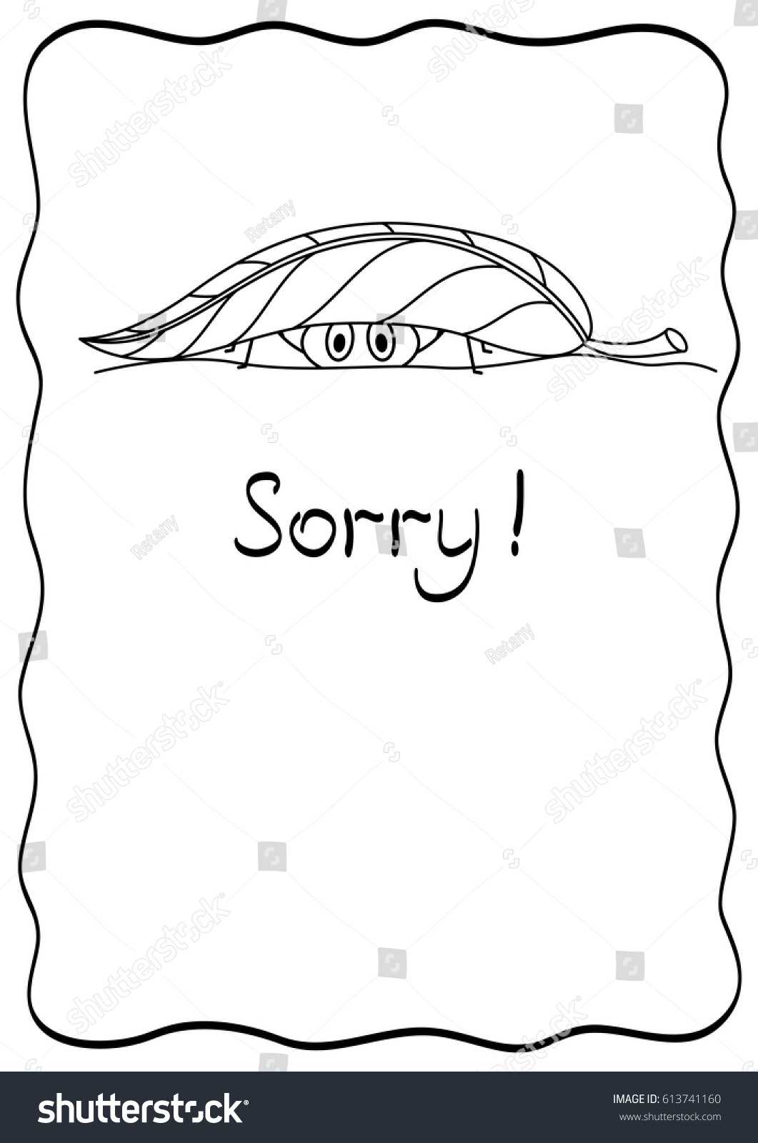 Sorry Comic Postcard Spider Design Template Stock Vector Pertaining To Sorry Card Template
