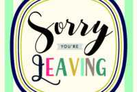 Sorry You're Leaving within Sorry You Re Leaving Card Template