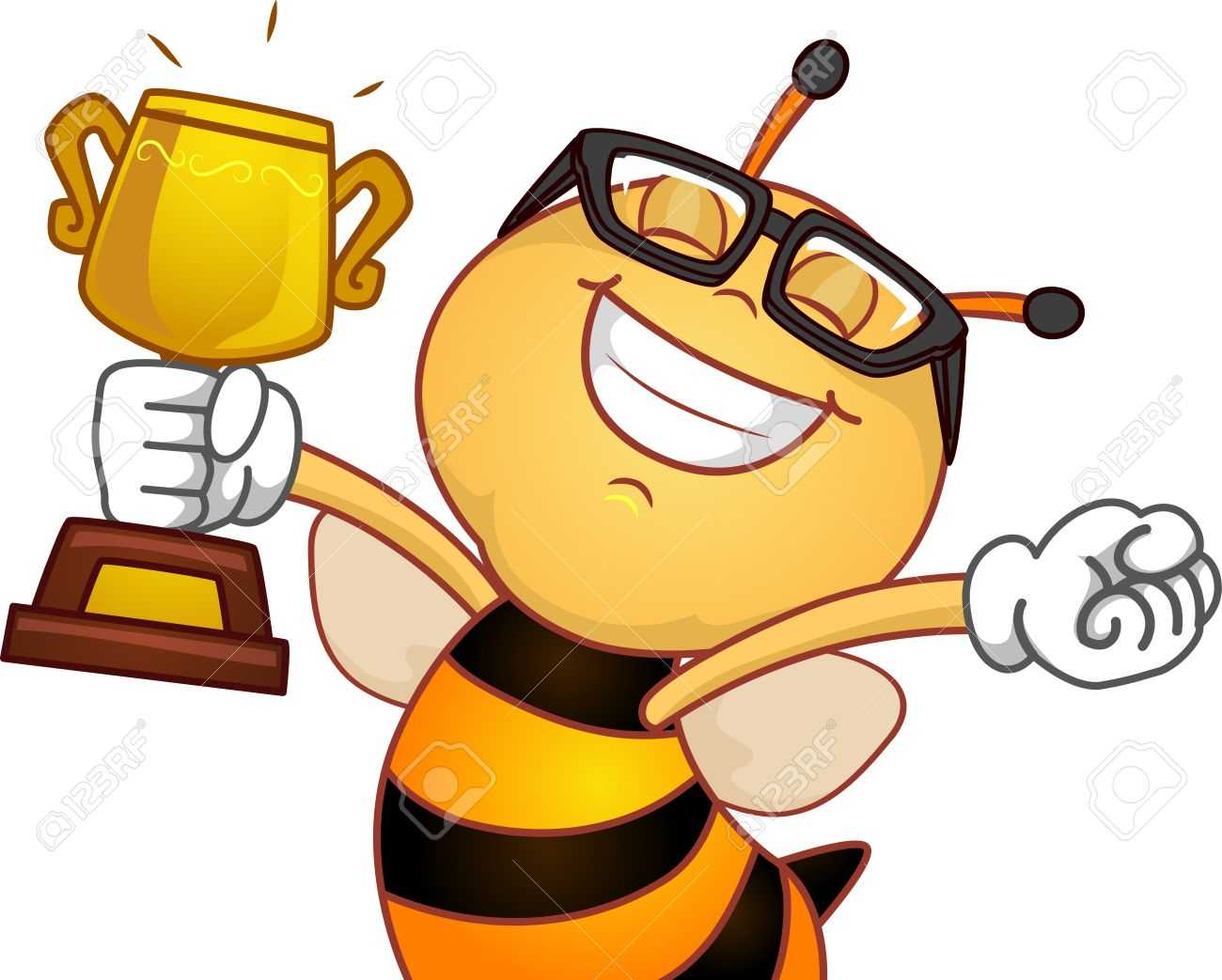 Spelling Bee Trophy Clipart In Spelling Bee Award Certificate Template