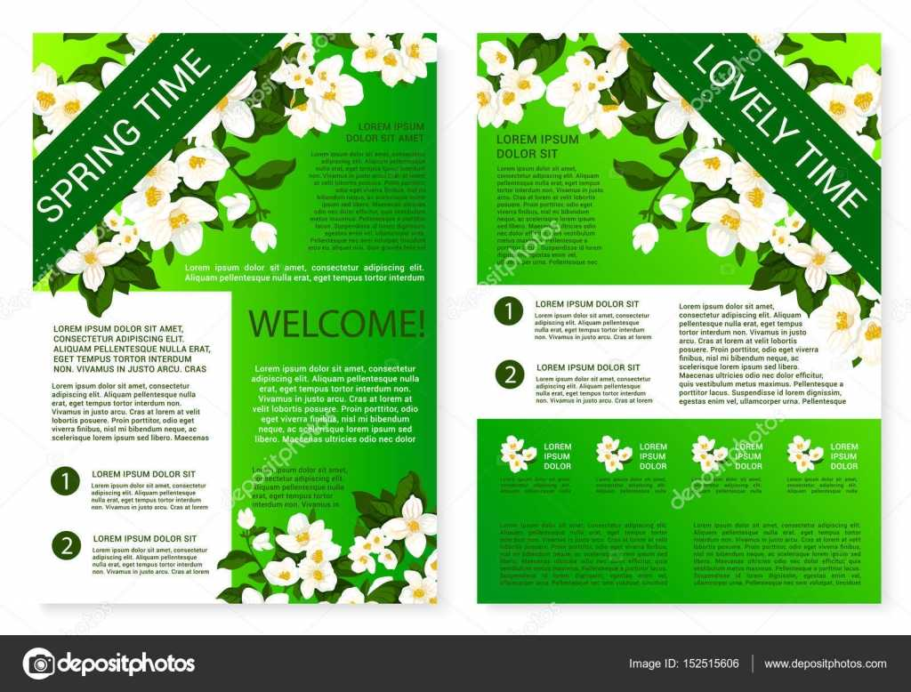 Spring Flowers Welcome Brochure Template Design — Stock Intended For Welcome Brochure Template