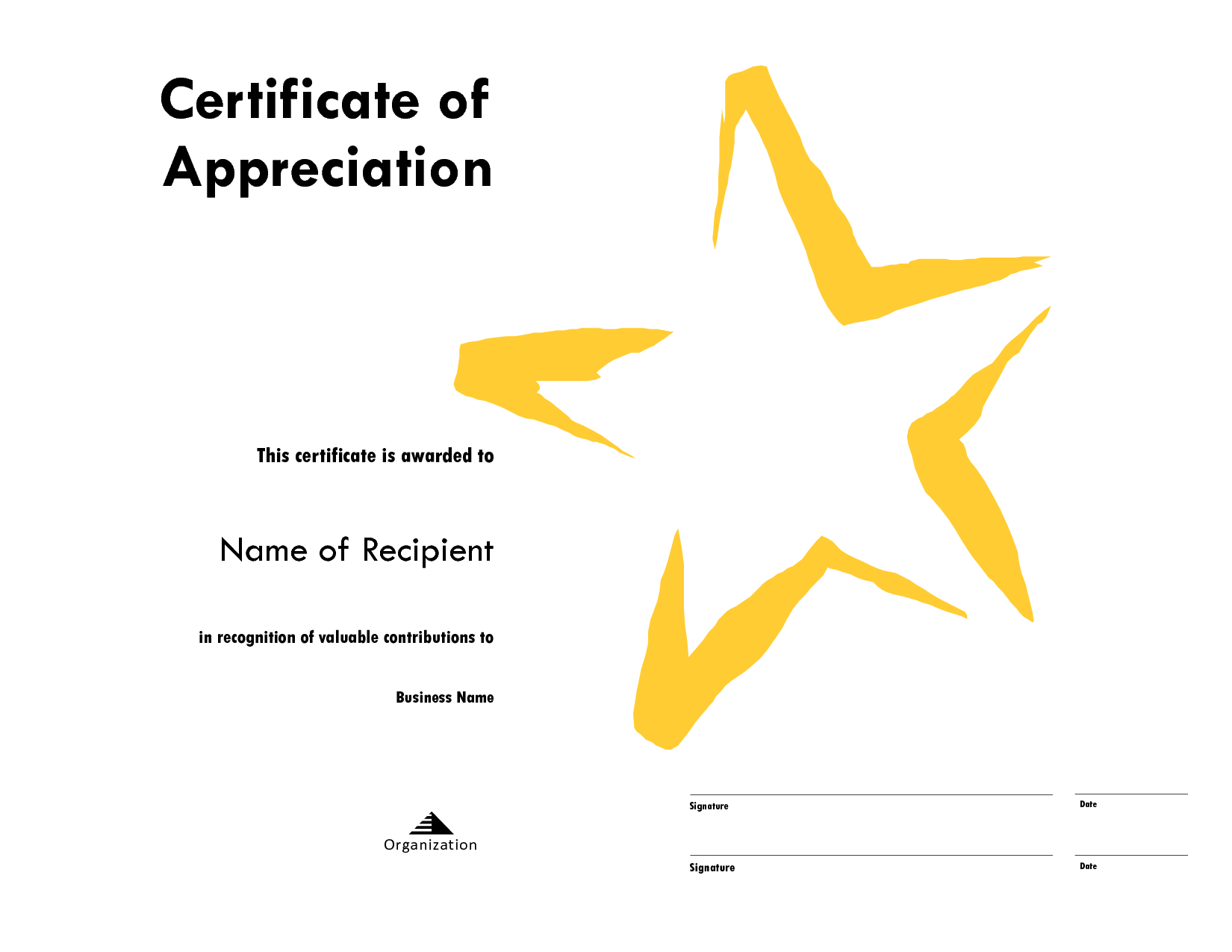 Star Award Certificate Templates Free Image With Star Certificate Templates Free