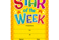 Star Of The Week Templates – Zohre.horizonconsulting.co regarding Star Of The Week Certificate Template
