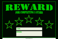 Star Reward Certificate | Templates At Allbusinesstemplates intended for Star Of The Week Certificate Template