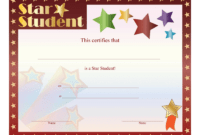 Star Student Certificate – Free Printable Download with regard to Free Student Certificate Templates