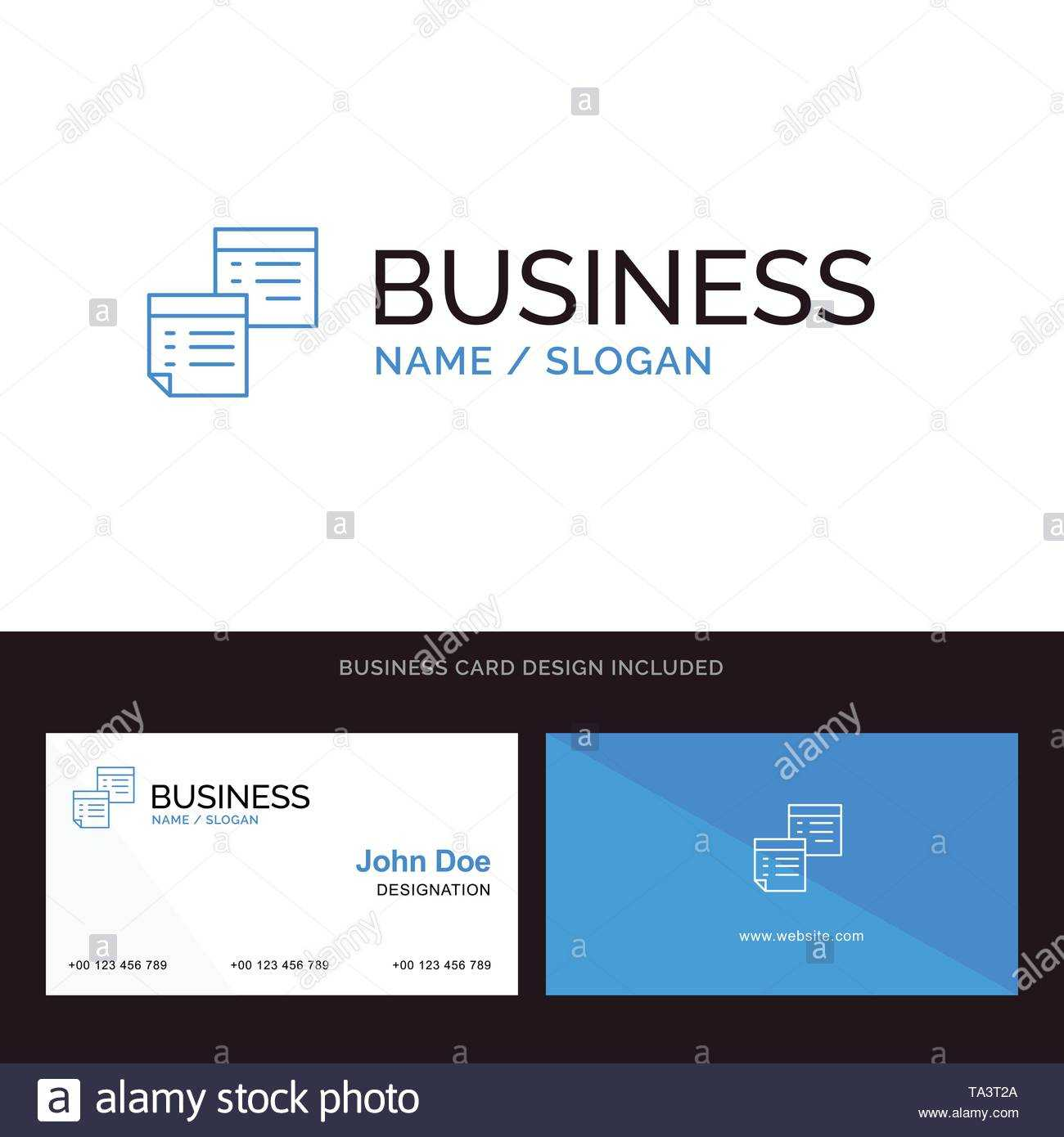Sticky, Files, Note, Notes, Office, Pages, Paper Blue Inside Pages Business Card Template