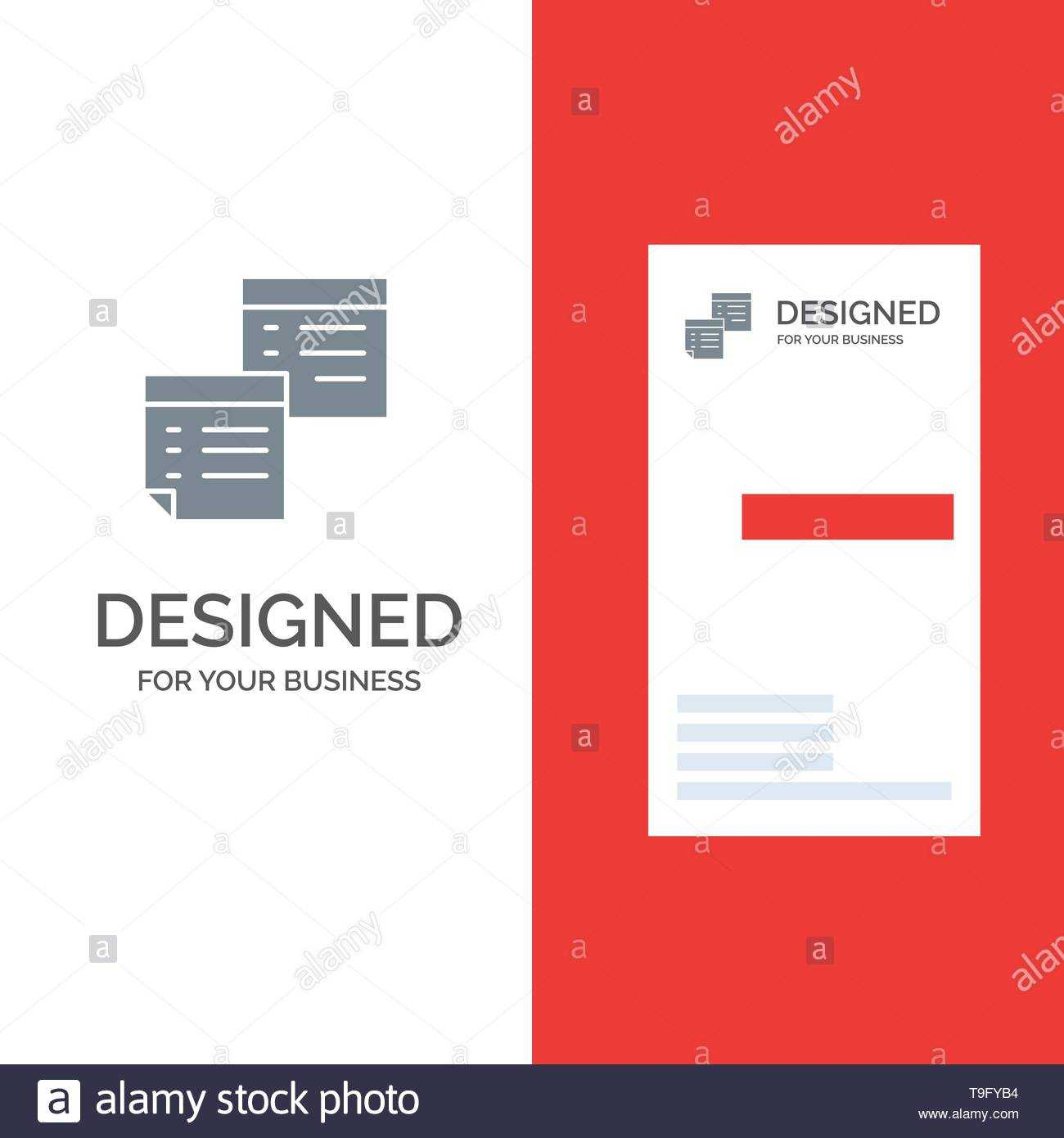 Sticky, Files, Note, Notes, Office, Pages, Paper Grey Logo Pertaining To Pages Business Card Template