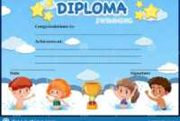 Swimming Diploma Stock Illustrations – 43 Swimming Diploma regarding Free Swimming Certificate Templates