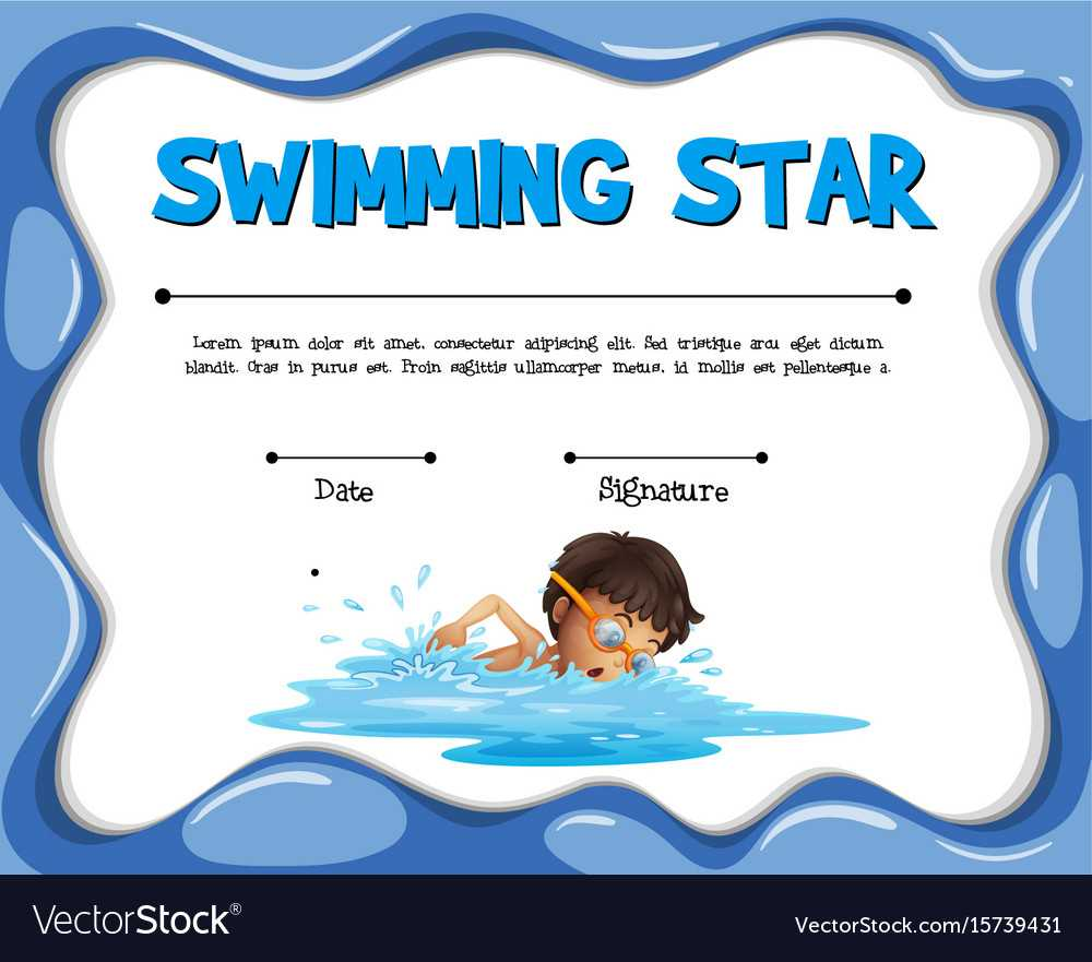 Swimming Star Certification Template With Swimmer Pertaining To Swimming Certificate Templates Free