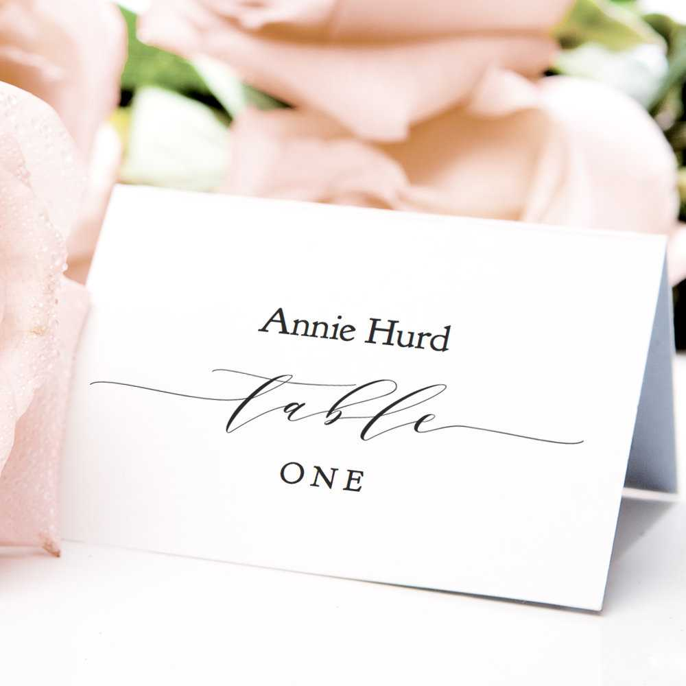 Table Place Cards Printable Pdf Template 3.5X2.5 Flat Intended For Place Card Setting Template