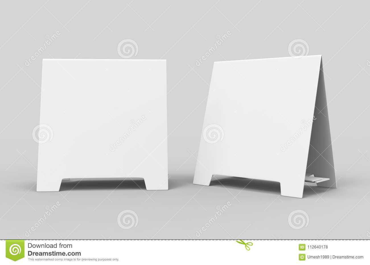 Tablet Tent Card Talkers Promotional Menu Card White Blank Intended For Blank Tent Card Template