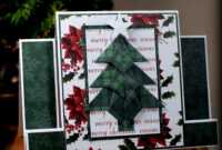Tea Bag Fold Christmas Tree Center Step Card | I Played With inside Recollections Card Template