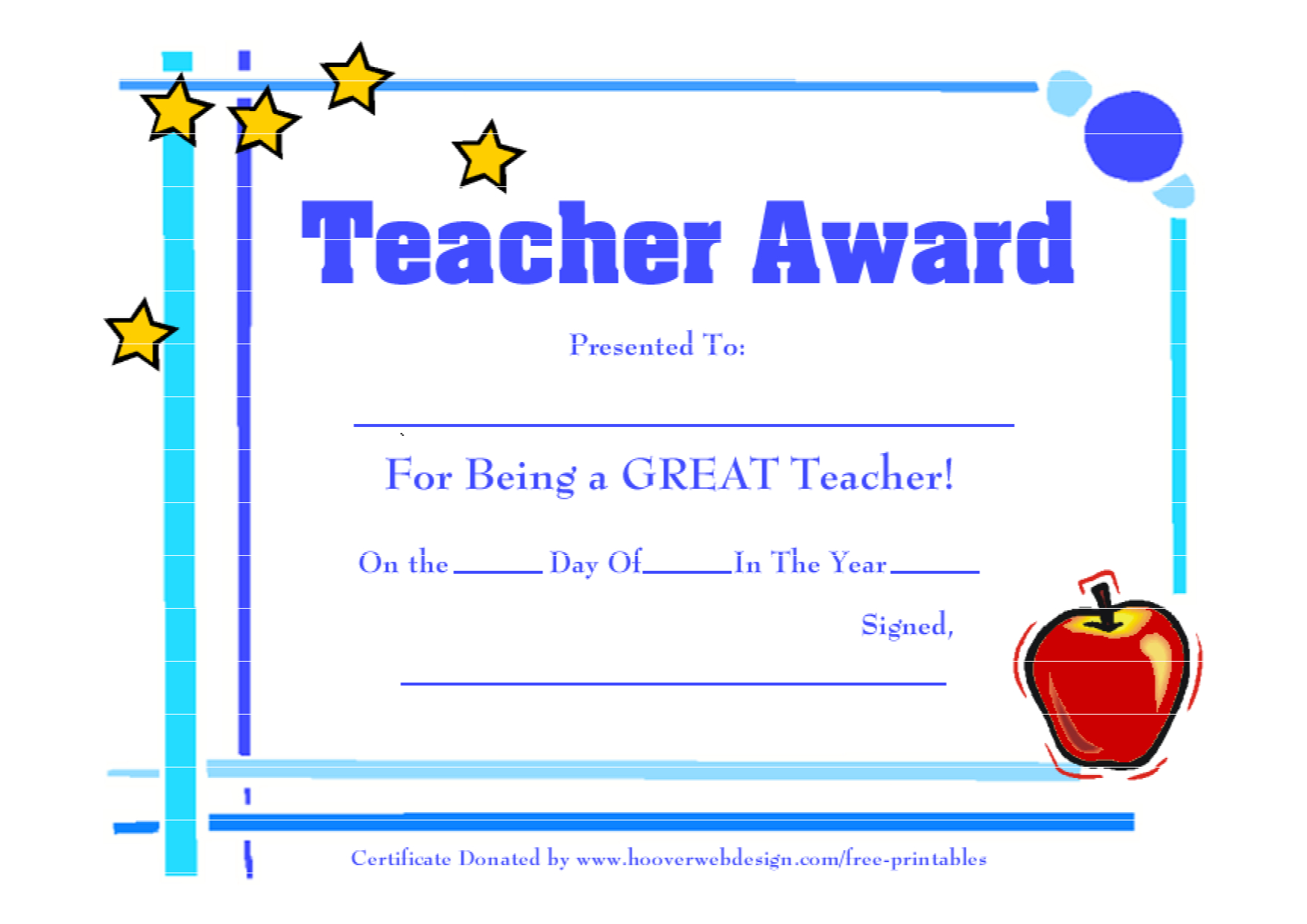 Teacher Appreciation Certificate Free Printable - Mahre Within Free Vbs Certificate Templates