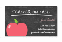 Teacher Business Cards Free Templates – Www for Business Cards For Teachers Templates Free