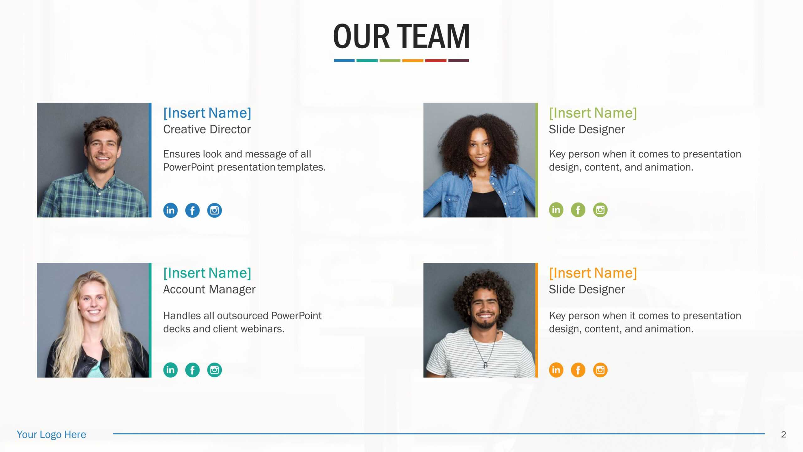 Team Biography Slides For Powerpoint Presentation Templates With Regard To Biography Powerpoint Template