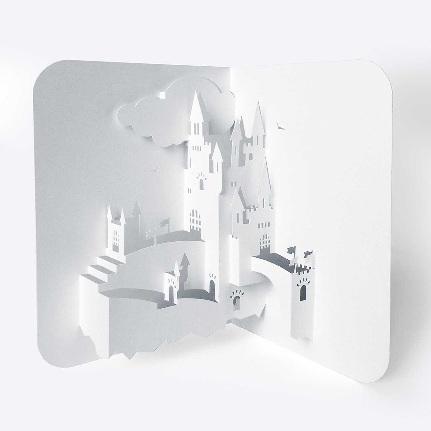 Template Pop Up Card «Castle» Inside Popup Card Template Free