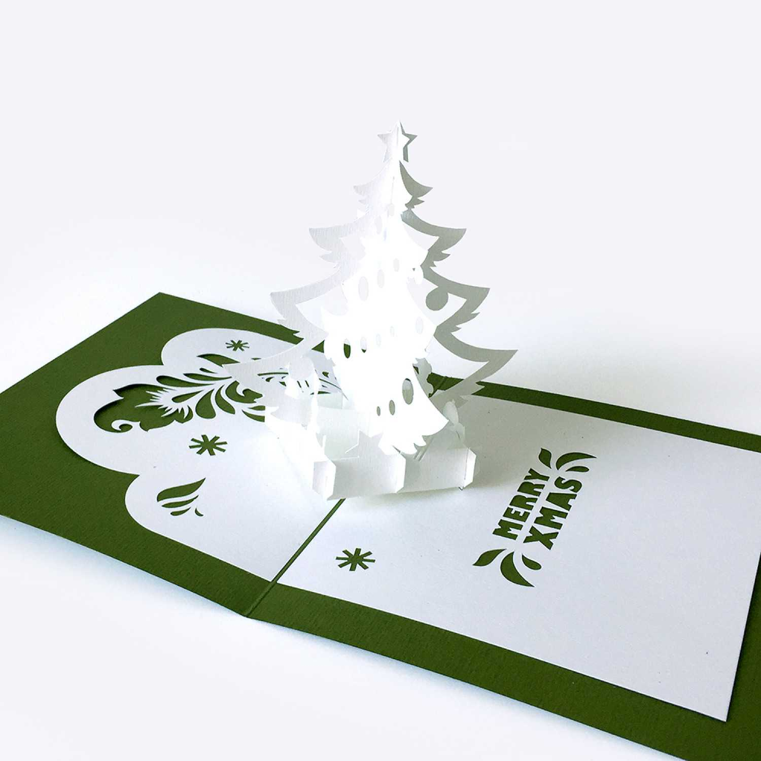 Template Pop Up Card «Christmas Tree» Throughout Pop Up Tree Card Template