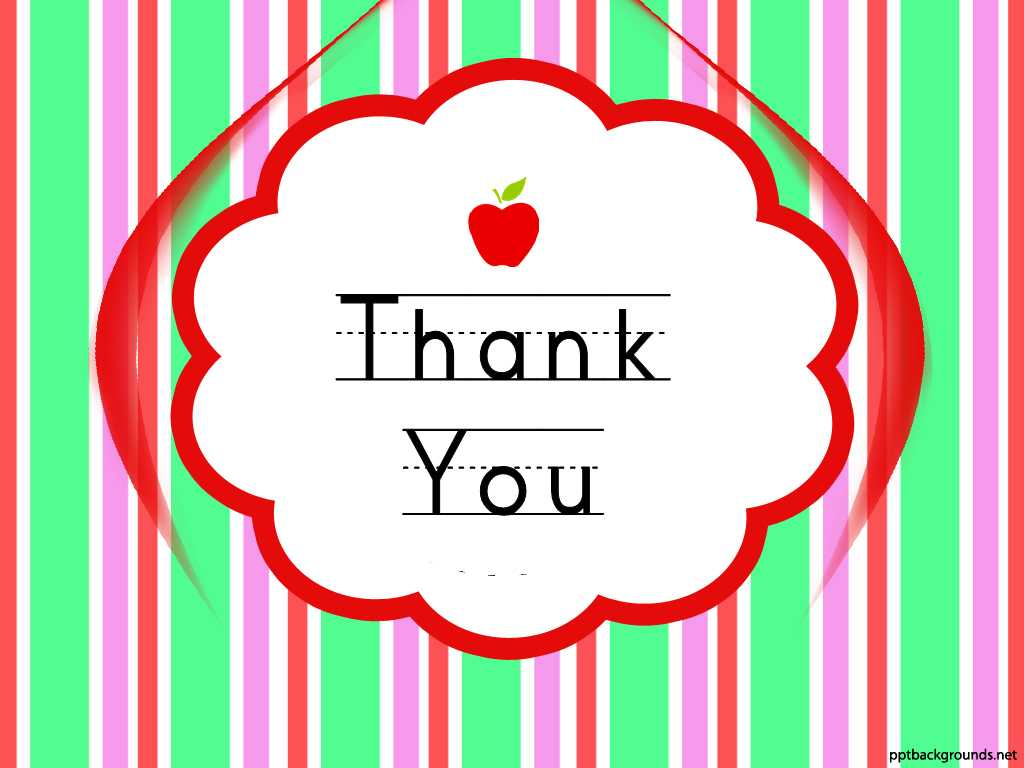 Thank You Cards For Teachers Backgrounds For Powerpoint Throughout Powerpoint Thank You Card Template