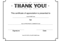 Thank You Certificate – Download Free Template with regard to Farewell Certificate Template