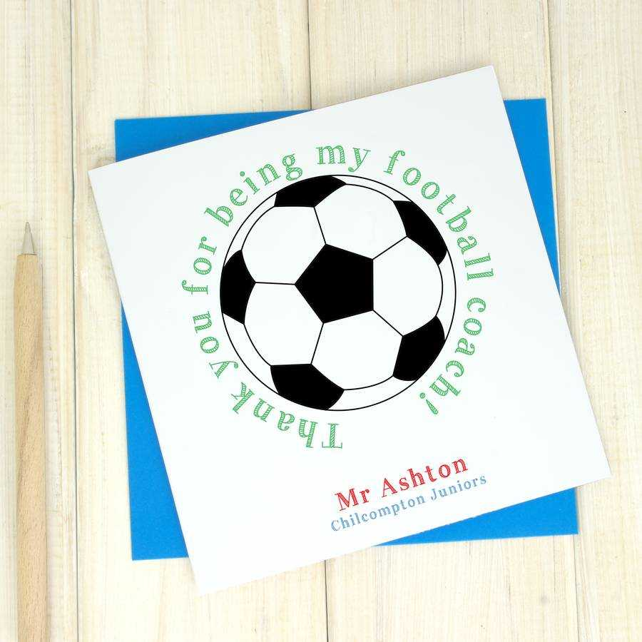 Thank You Coach Cards - Zohre.horizonconsulting.co Intended For Soccer Thank You Card Template