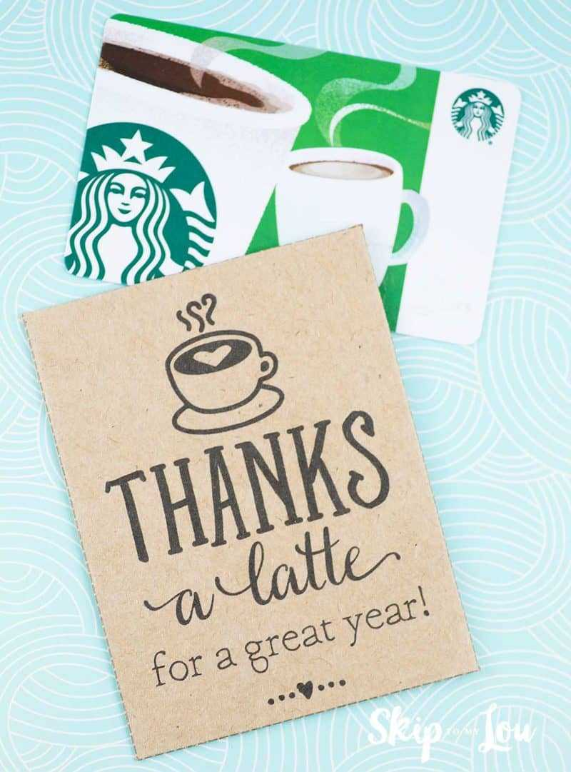 Thanks A Latte! Free Printable Gift Tags | Skip To My Lou Throughout Thanks A Latte Card Template