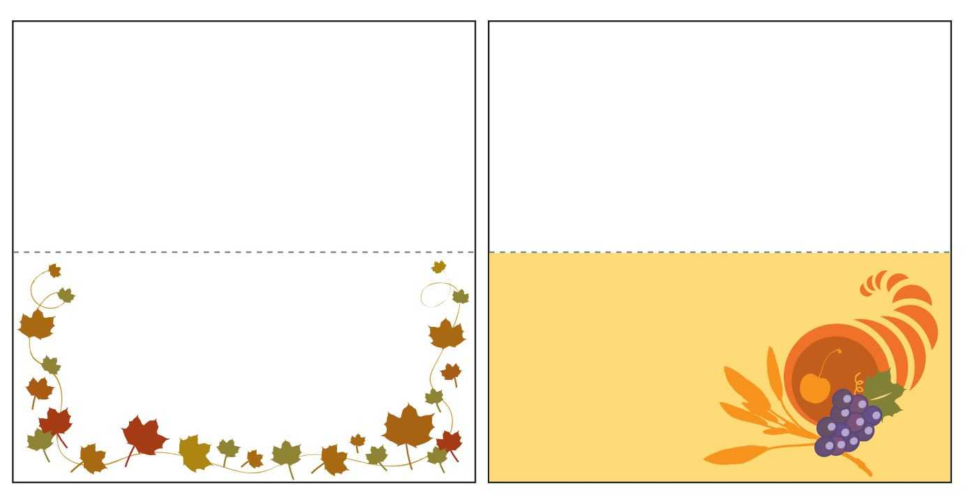 Thanksgiving Place Card Templates Gallery – Free Templates Ideas Inside Thanksgiving Place Card Templates