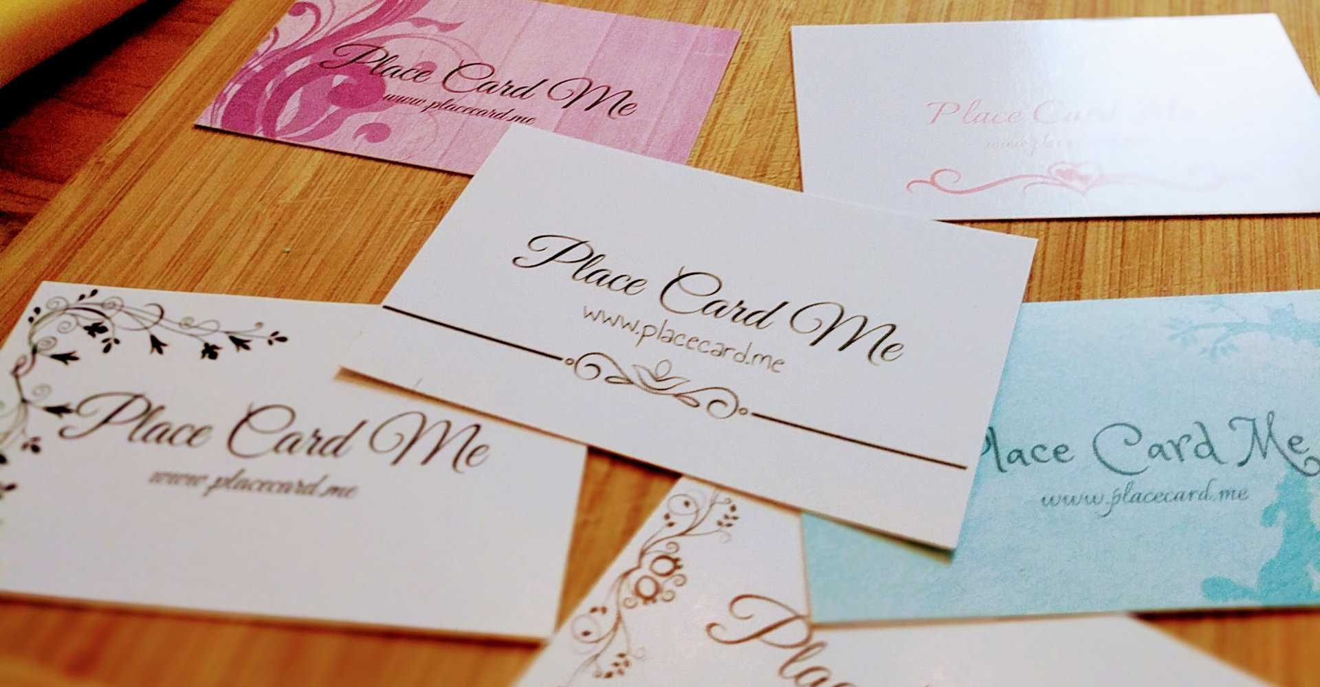 The Definitive Guide To Wedding Place Cards   Place Card Me With Place Card Size Template