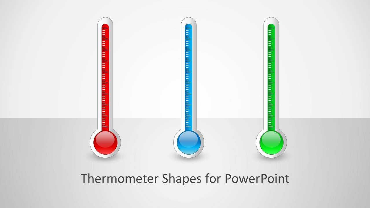 Thermometer Shapes For Powerpoint With Powerpoint Thermometer Template