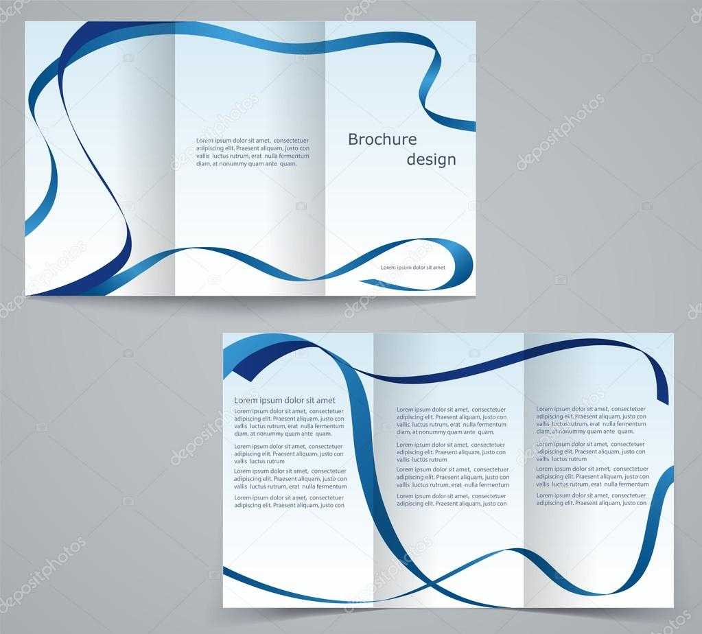 Three Fold Business Brochure Template, Corporate Flyer Or Regarding Three Fold Card Template