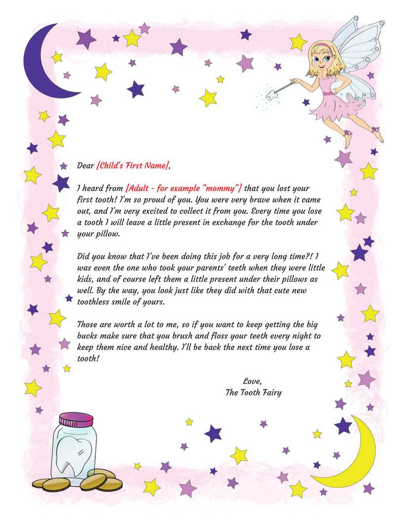 Tooth Fairy Certificate Template Free In Free Tooth Fairy Certificate Template