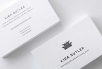 Top 32 Best Business Card Designs & Templates pertaining to Front And Back Business Card Template Word