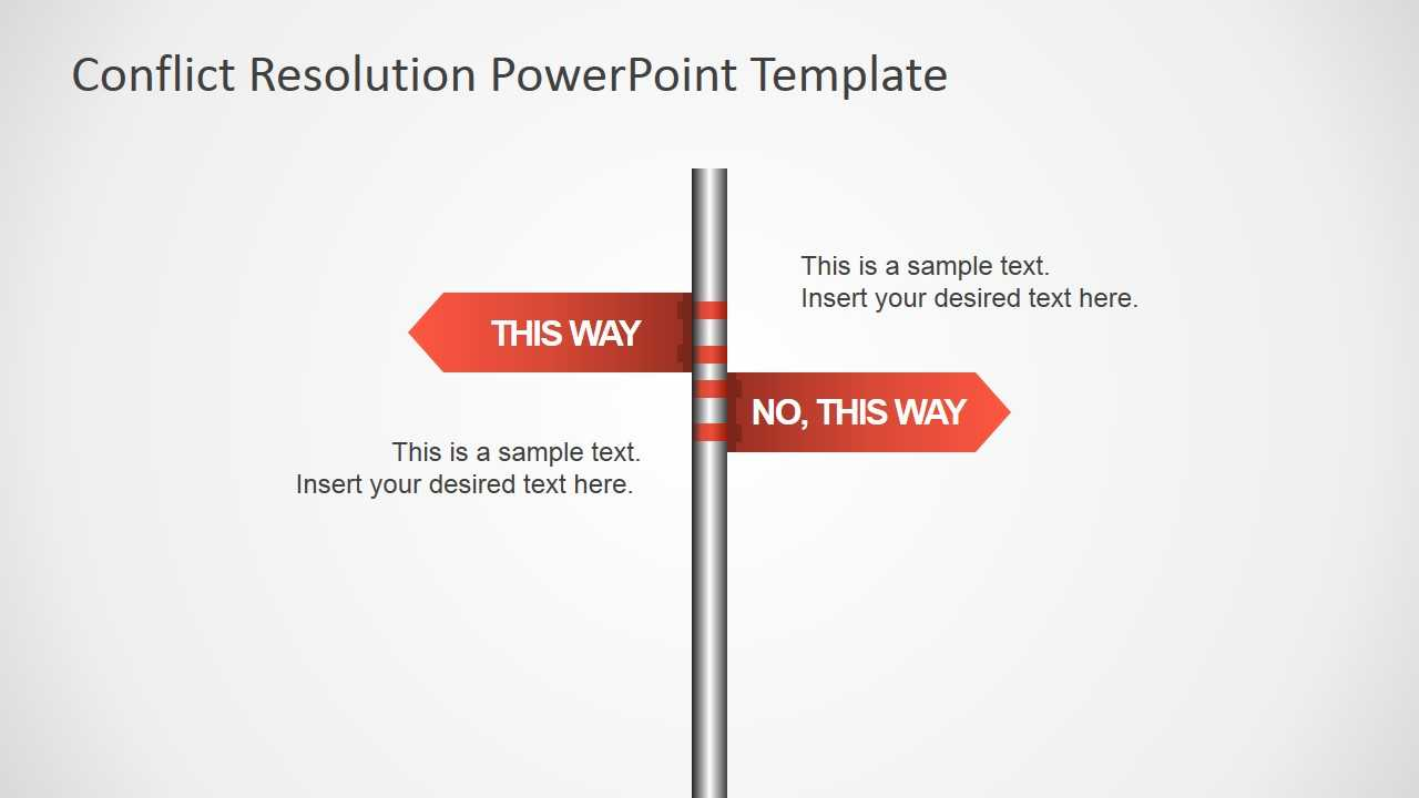 Traffic Sign This Way Arrows For Powerpoint - Slidemodel Pertaining To Powerpoint Template Resolution