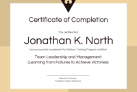 Training Certificate Of Completion Template for Template For Training Certificate