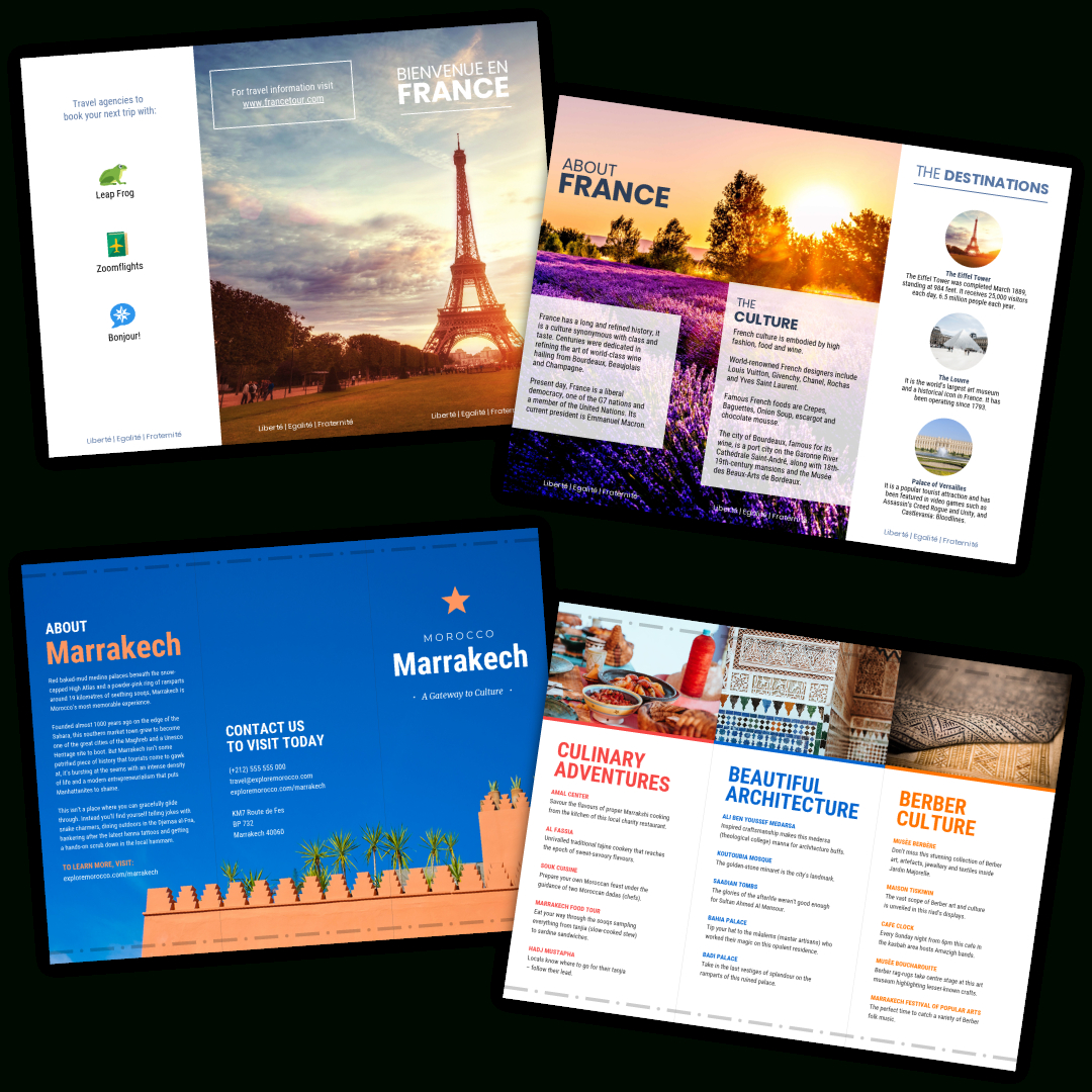 Travel Brochure Templates - Make A Travel Brochure - Venngage Pertaining To Travel Guide Brochure Template