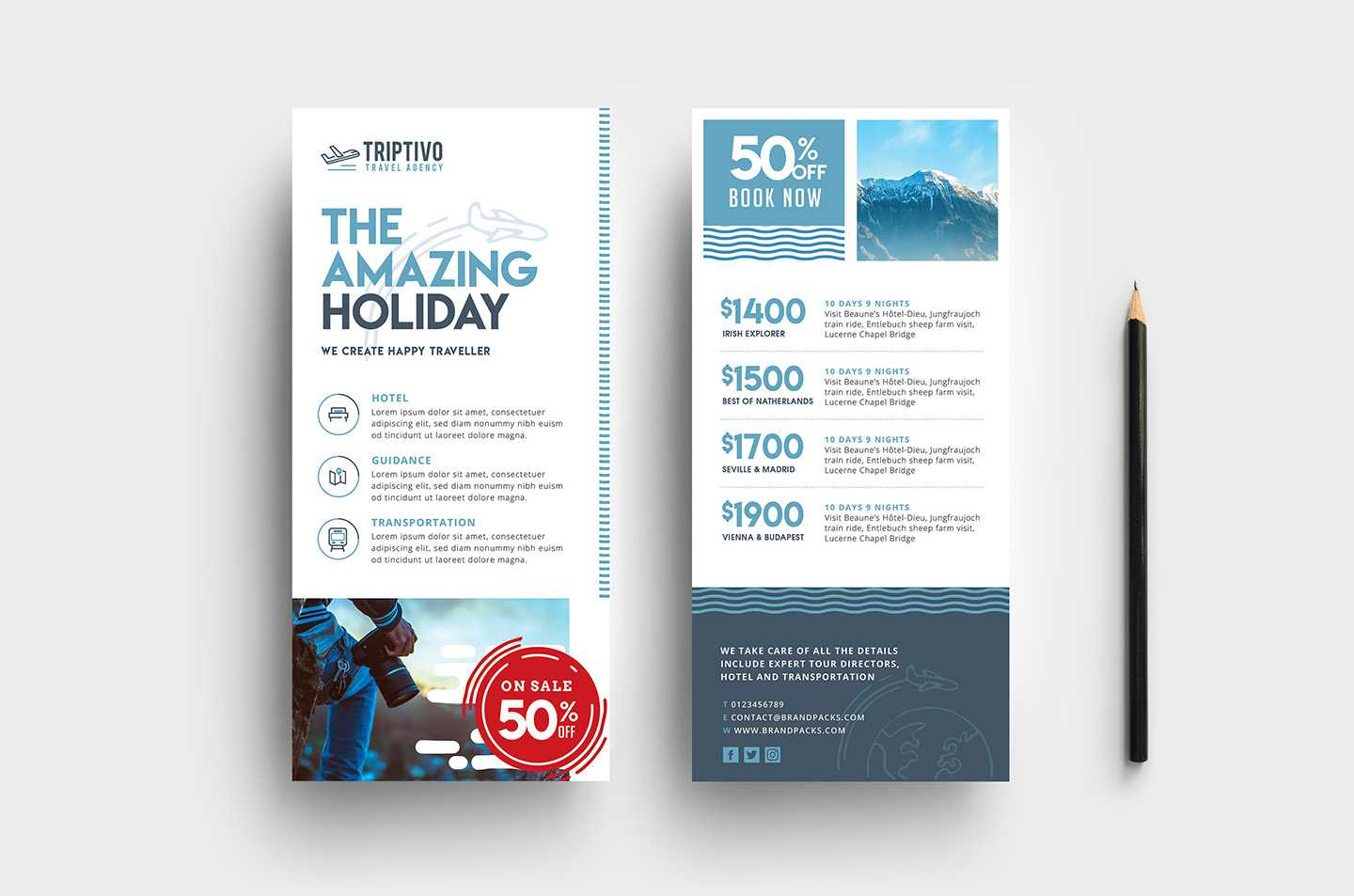 Travel Company Dl Card Template In Psd, Ai & Vector Throughout Dl Card Template
