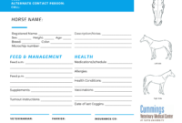 Travel Confidently – News Center At Cummings School Of with regard to Horse Stall Card Template