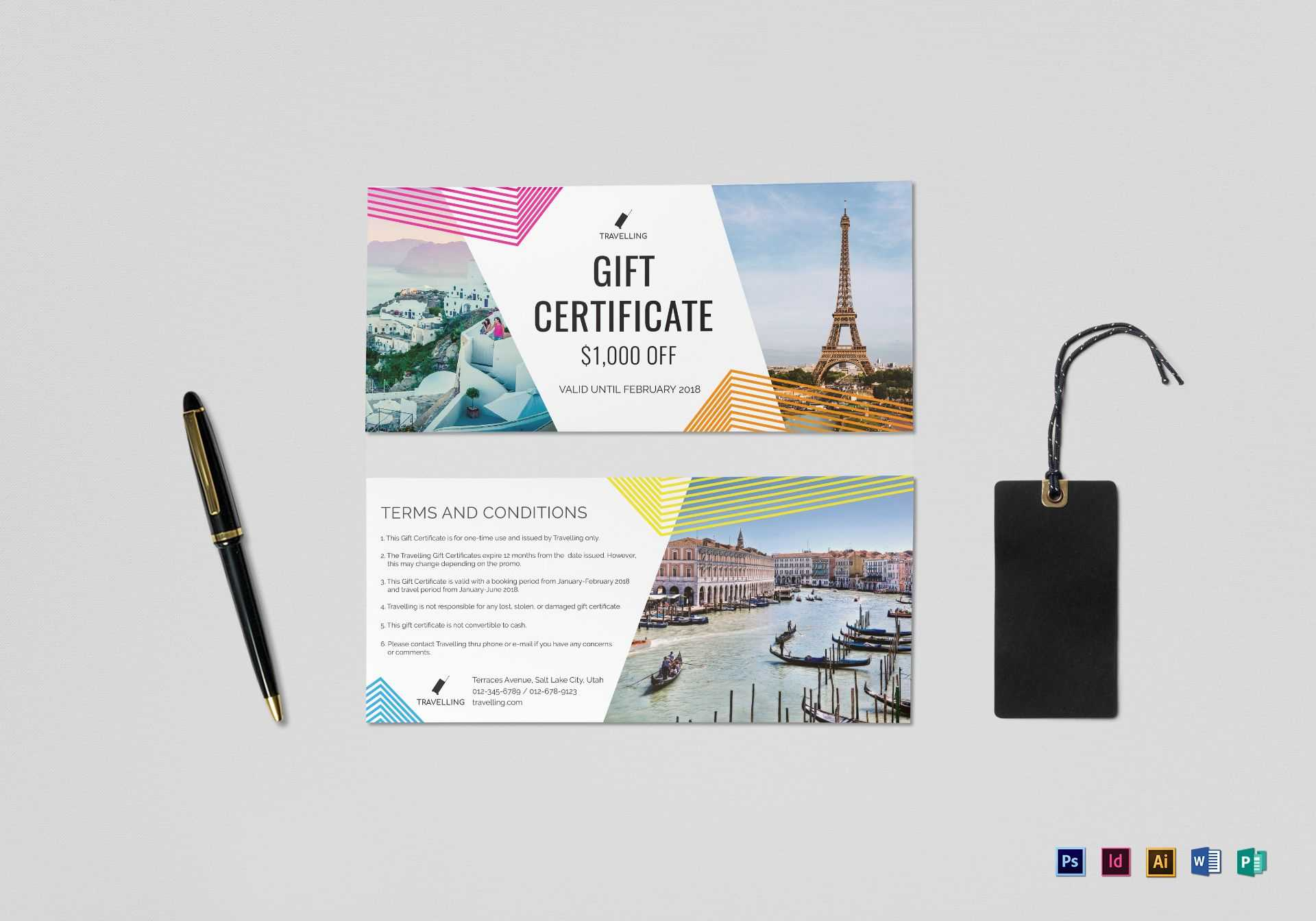 Travel Gift Certificate Template Within Gift Certificate Template Indesign