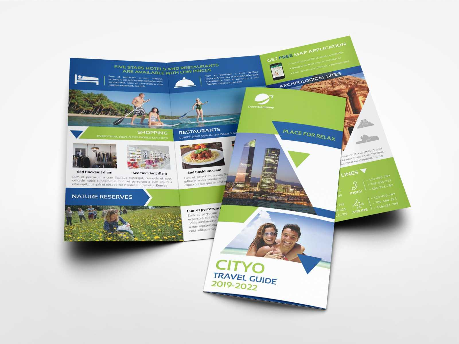 Travel Guide Tri Fold Brochure Templateowpictures On Throughout Travel Guide Brochure Template