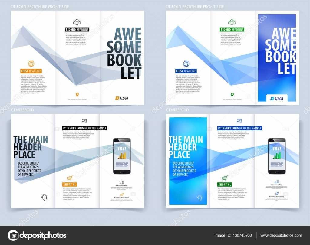 Tri Fold Brochure Template Layout, Cover Design, Flyer In A4 For Engineering Brochure Templates