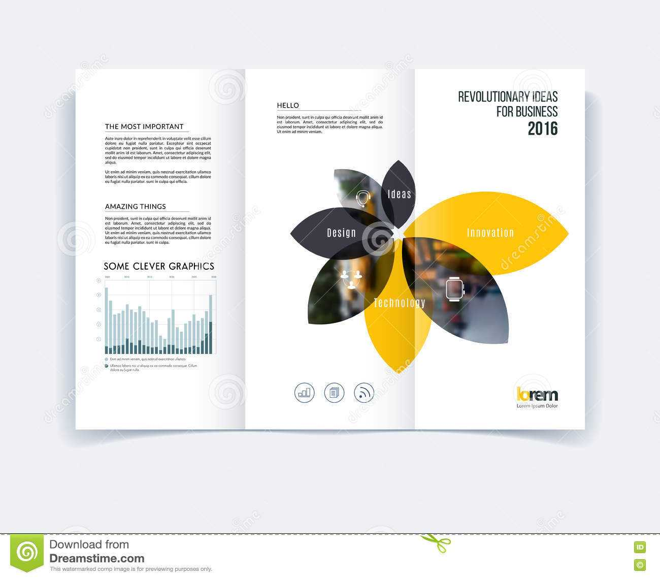 Tri Fold Brochure Template Layout, Cover Design, Flyer In A4 Regarding Engineering Brochure Templates
