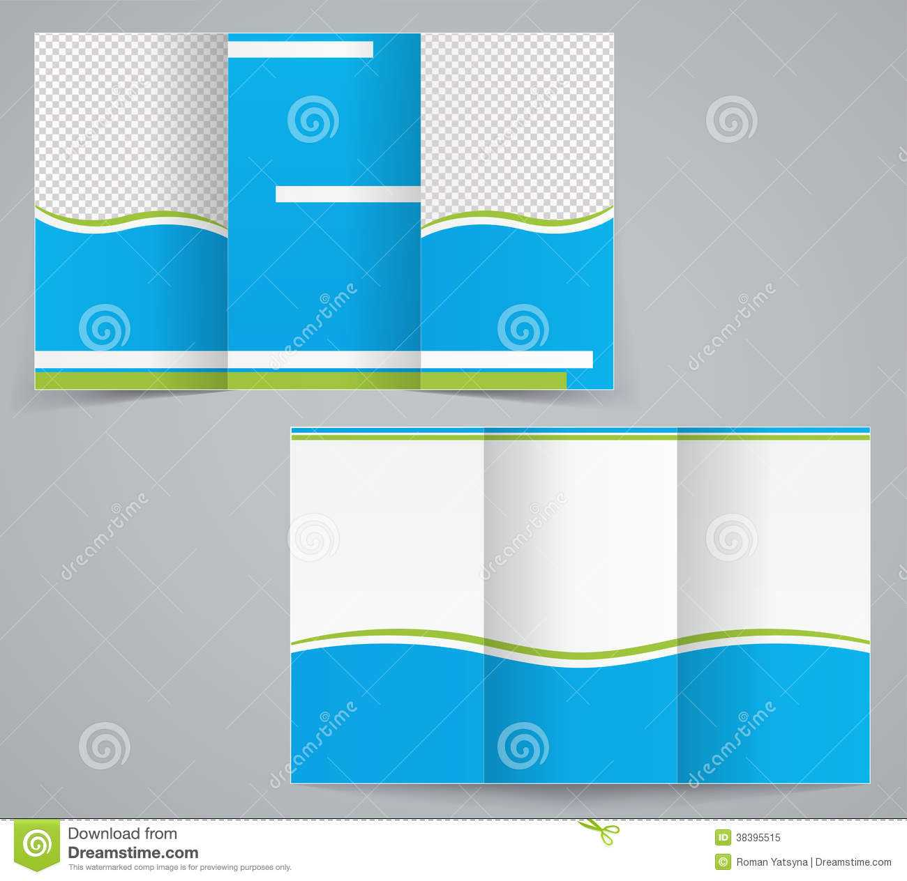 Tri Fold Business Brochure Template, Blue Design Stock Within 6 Sided Brochure Template